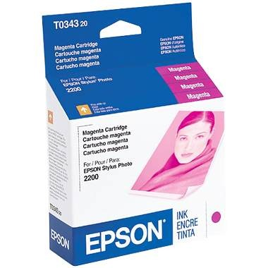 T034320 Ink Cartridge - Epson Genuine OEM (Magenta)