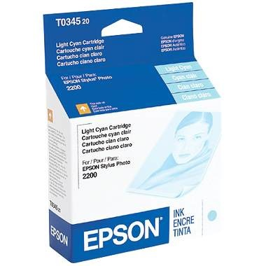 T034520 Ink Cartridge - Epson Genuine OEM (Light Cyan)