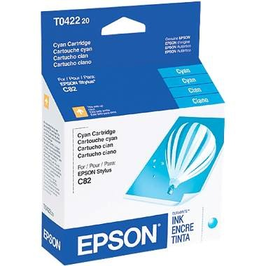 T042220 Ink Cartridge - Epson Genuine OEM (Cyan)