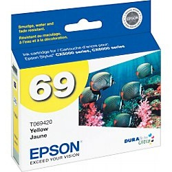 T069420 Ink Cartridge - Epson Genuine OEM (Yellow)