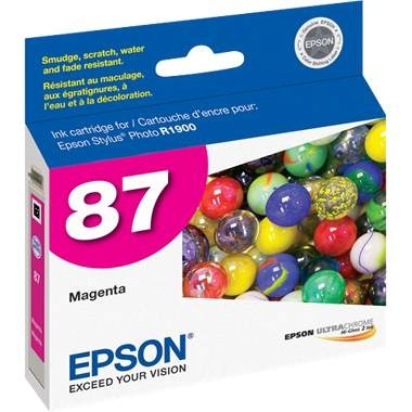 T087320 Ink Cartridge - Epson Genuine OEM (Magenta)