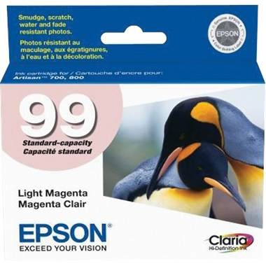 T099620 Ink Cartridge - Epson Genuine OEM (Light Magenta)
