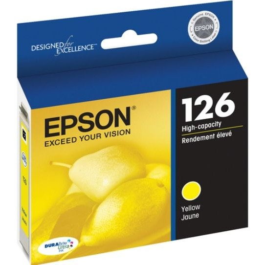 T126420 Ink Cartridge - Epson Genuine OEM (Yellow)