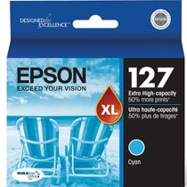 T127220 Ink Cartridge - Epson Genuine OEM (Cyan)