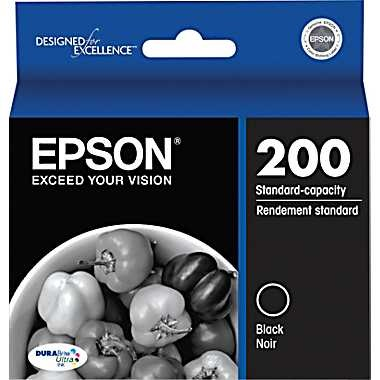 T200120 Ink Cartridge - Epson Genuine OEM (Black)