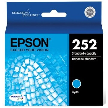 T252220 Ink Cartridge - Epson Genuine OEM (Cyan)