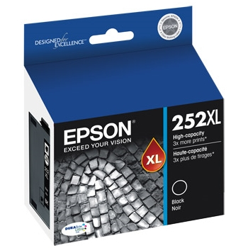 T252XL120 Ink Cartridge - Epson Genuine OEM (Black)