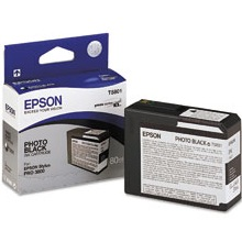 T580100 Ink Cartridge - Epson Genuine OEM (Black)