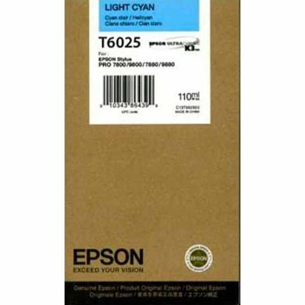 T602500 Ink Cartridge - Epson Genuine OEM (Light Cyan)
