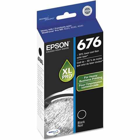 T676XL120 Ink Cartridge - Epson Genuine OEM (Black)