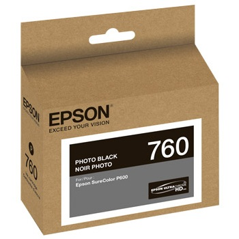 T760120 Ink Cartridge - Epson Genuine OEM (Photo Black)