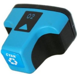 HP 02 Cyan Ink Cartridge - HP Remanufactured (Cyan)