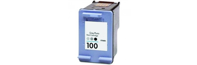 HP 100 Ink Cartridge - HP Remanufactured (Photo Gray)
