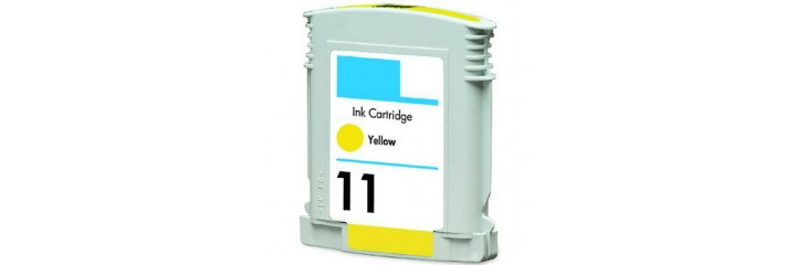 HP 11 Yellow Ink Cartridge - HP Remanufactured (Yellow)