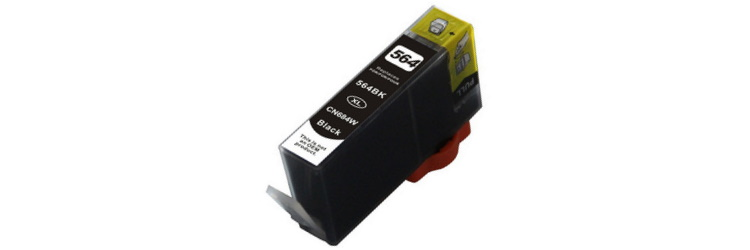 HP 564XL Black Ink Cartridge - HP Remanufactured (Black)