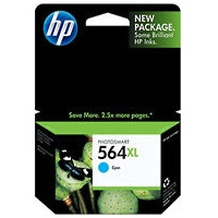 HP 564XL Cyan Ink Cartridge - HP Genuine OEM (Cyan)