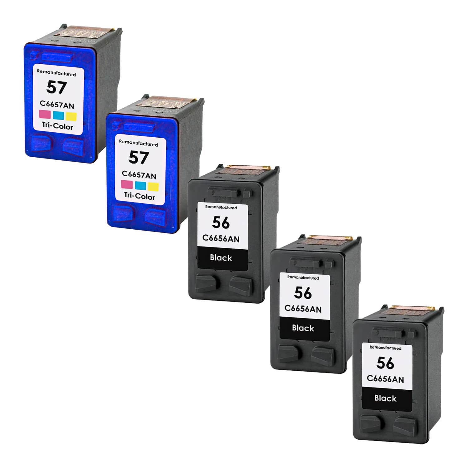 Remanufactured HP 57-56 Inkjet Pack - 5 Cartridges