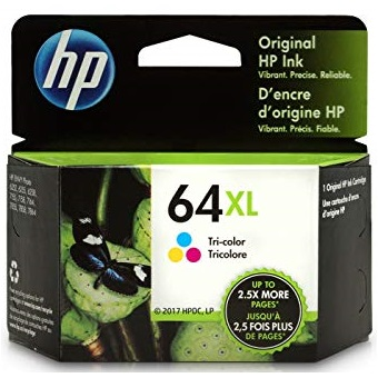 HP 64XL Tricolor Ink Cartridge - HP Genuine OEM (Color)