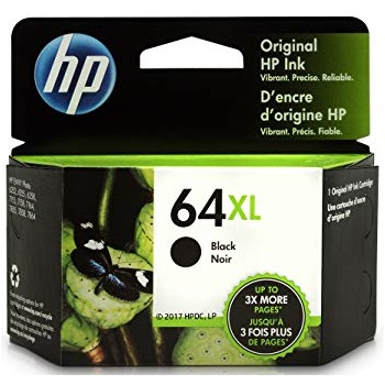 HP 64XL Black Ink Cartridge - HP Genuine OEM (Black)