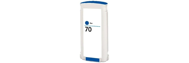 HP 70 Blue Ink Cartridge - HP Remanufactured (Blue)