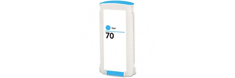 HP 70 Cyan Ink Cartridge - HP Remanufactured (Cyan)