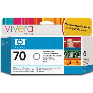 HP 70 Gloss Ink Cartridge - HP Genuine OEM (Gloss)