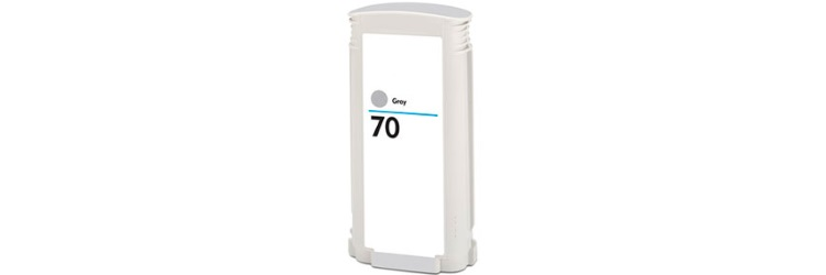HP 70 Gray Ink Cartridge - HP Remanufactured (Gray)