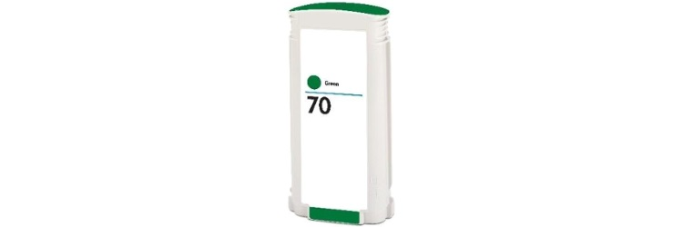 HP 70 Green Ink Cartridge - HP Remanufactured (Green)