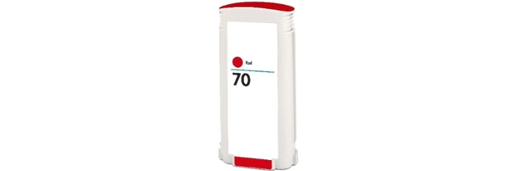 HP 70 Red Ink Cartridge - HP Remanufactured (Red)