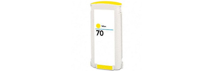 HP 70 Yellow Ink Cartridge - HP Remanufactured (Yellow)