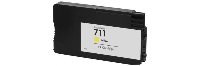 HP 711 Yellow Ink Cartridge - HP Remanufactured (Yellow)
