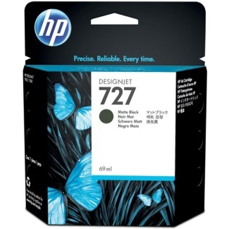 HP 727 Matte Black Ink Cartridge - HP Genuine OEM (Matte Black)