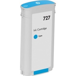 HP 727 Cyan Ink Cartridge - HP Compatible (Cyan)