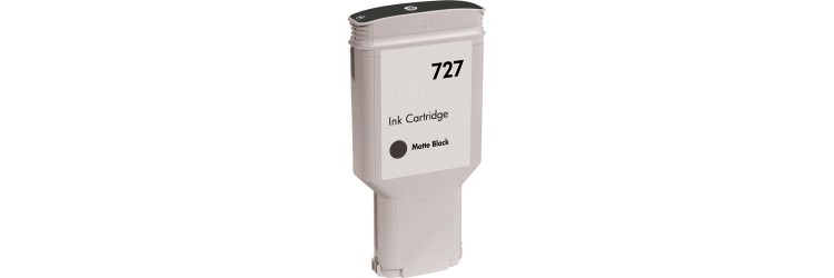 HP 727 Matte Black Ink Cartridge - HP Compatible (Matte Black)