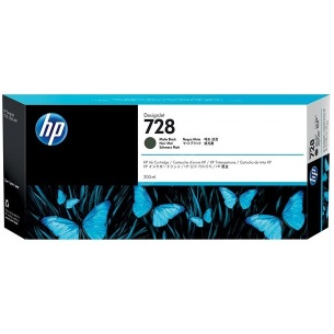 HP 728 Matte Black Ink Cartridge - HP Genuine OEM (Matte Black)