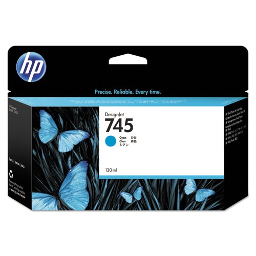 HP 745 Cyan Ink Cartridge - HP Genuine OEM (Cyan)