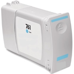 HP 761 Cyan Ink Cartridge - HP Compatible (Cyan)
