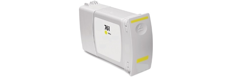 HP 761 Yellow Ink Cartridge - HP Compatible (Yellow)
