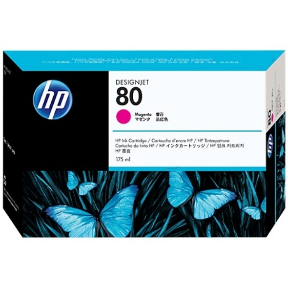 HP 80XL Magenta Ink Cartridge - HP Genuine OEM (Magenta)