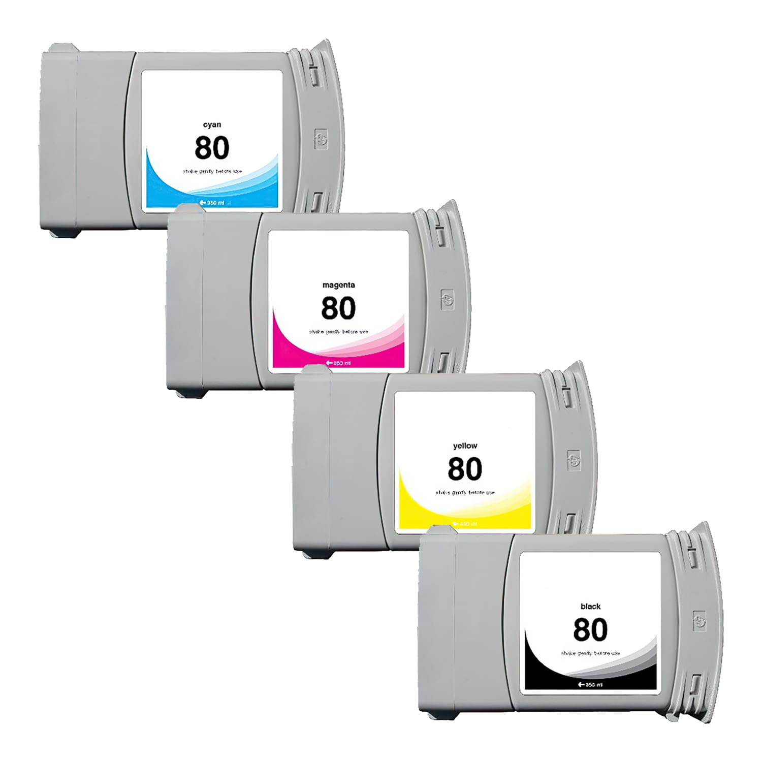 Remanufactured HP 80XL Inkjet High Capacity Pack - 4 Cartridges