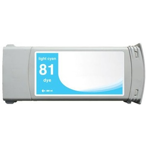 HP 81 Light Cyan Ink Cartridge - HP Remanufactured (Light Cyan)