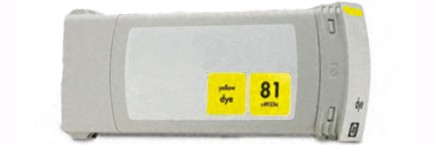 HP 81 Yellow Ink Cartridge - HP Remanufactured (Yellow)