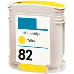 HP 82 Yellow Ink Cartridge - HP Remanufactured (Yellow)