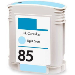 HP 85 Light Cyan Ink Cartridge - HP Remanufactured (Light Cyan)