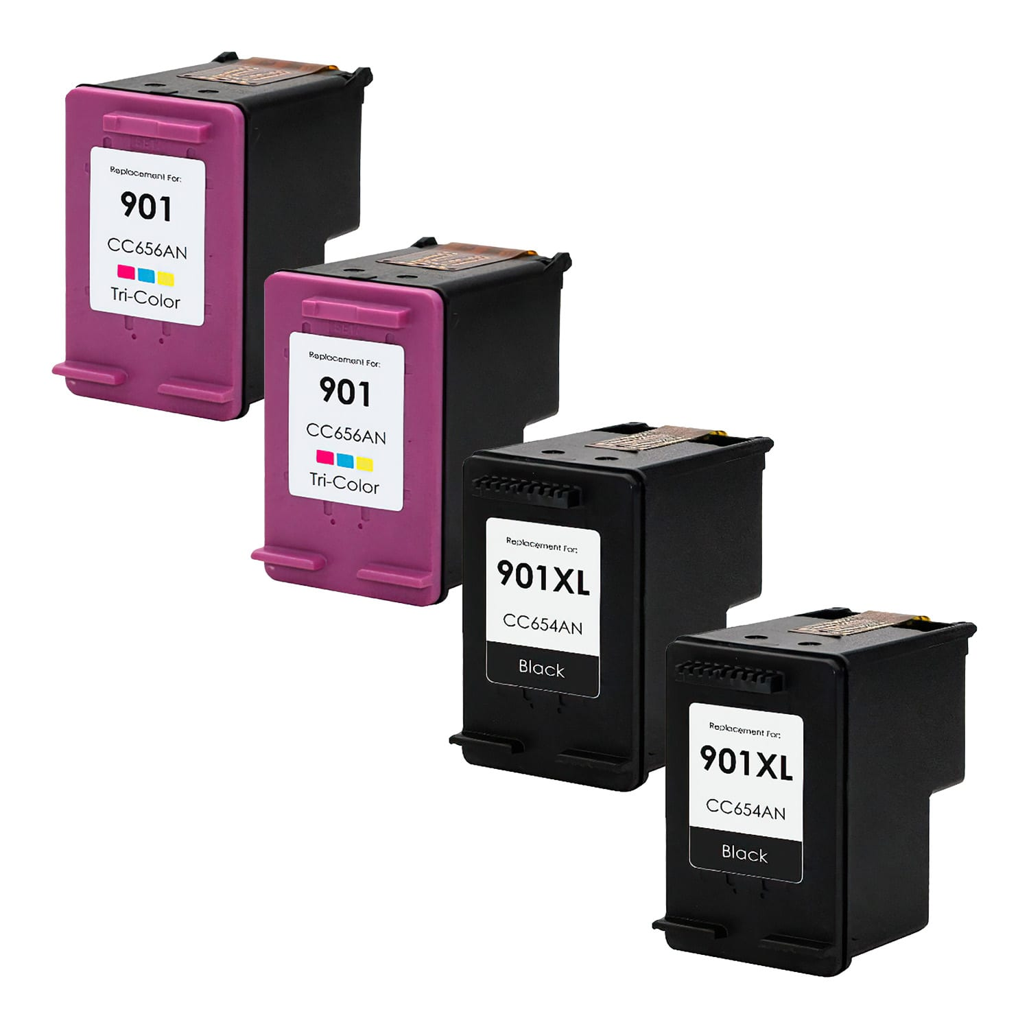 Remanufactured HP 901-901XL Inkjet High Capacity Pack - 4 Cartridges
