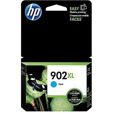 HP 902XL Cyan Ink Cartridge - HP Genuine OEM (Cyan)