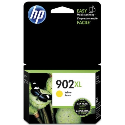 HP 902XL Yellow Ink Cartridge - HP Genuine OEM (Yellow)