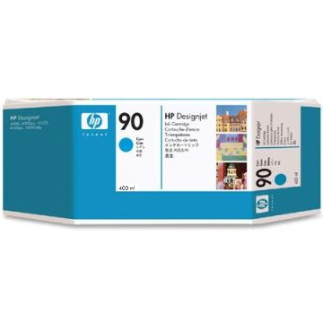 HP 90 Cyan Ink Cartridge - HP Genuine OEM (Cyan)