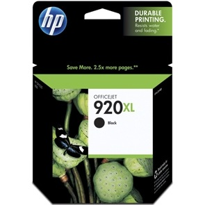 HP 920XL Black Ink Cartridge - HP Genuine OEM (Black)
