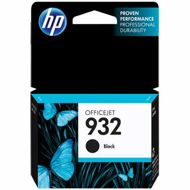 HP 932 Black Ink Cartridge - HP Genuine OEM (Black)